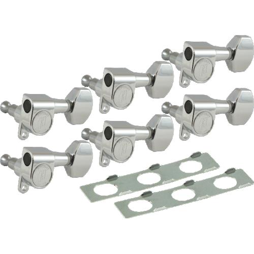 Tuner Upgrade Kit - Hipshot, Enclosed Gear Classic, Chrome image 1
