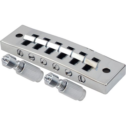 Bridge - Kluson, Harmonica, Steel Chrome with Brass Saddles image 1