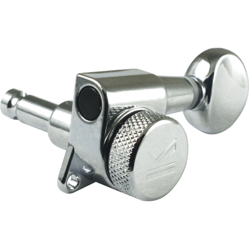 Tuners - Kluson, 6 in line, Oval Metal Knob, Chrome image 2