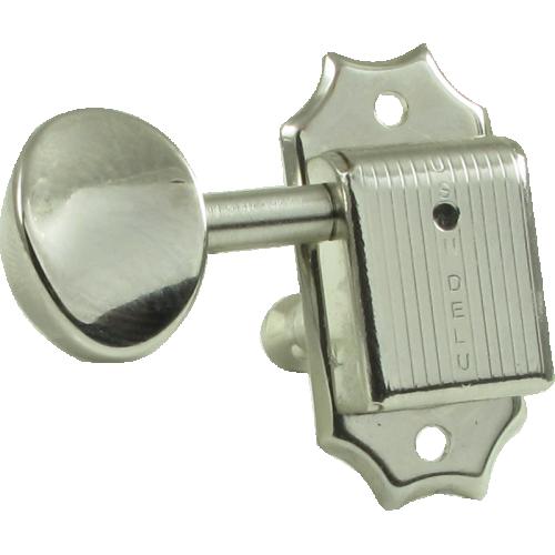 Tuner - Kluson, Oval, 3 per side, Nickel image 1