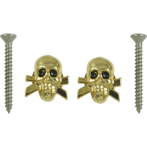 Strap locks - Grover, Skull and cross style, gold image 1
