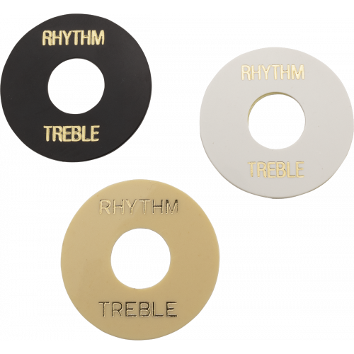 Switchwashers - Rhythm / Treble, Gold Lettering, for Les Paul image 1