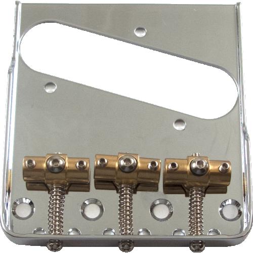 Bridge - Tele, Adjustable Locking Saddles, Chrome image 1