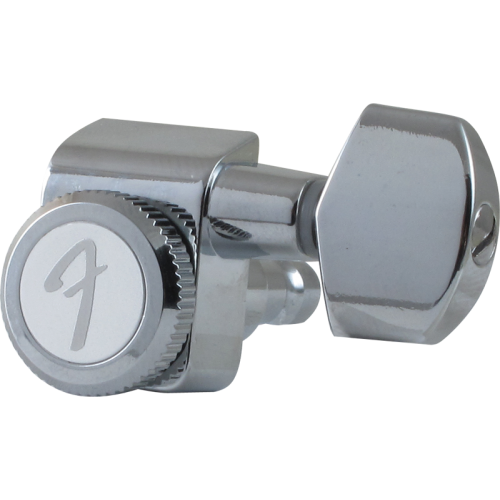 Tuners - Fender®, locking, 6 in a line, chrome image 2