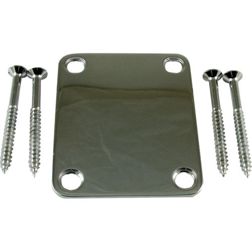 Neck Plate - 4 hole / 4 bolt, Chrome image 1