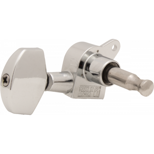 Tuners - Sealed, 45° Screw Mount, Schaller-style Knob, 3 per side image 2