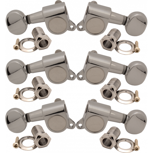 Tuners - Sealed, 45° Screw Mount, Oval Knob, 3 per side image 1