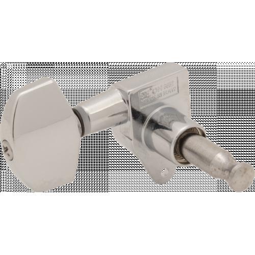 Tuners - Sealed, Center Screw Mount, Schaller-style Knob, 3 per side image 2