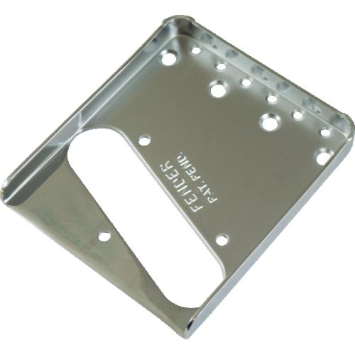 Plate - Fender®, Vintage Tele Bridge, Chrome image 1
