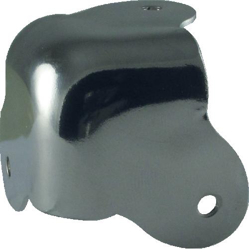 Corner - Steel, 3-Hole, 18 Gauge, for vinyl/carpeted cabinets image 1