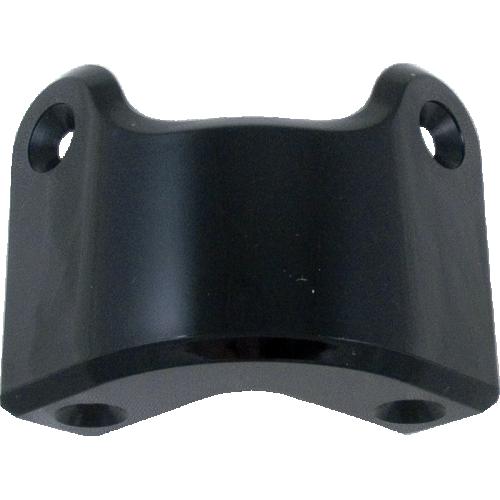 Corner - Marshall, Black Plastic, 4-Hole, Rear, with rivets image 2