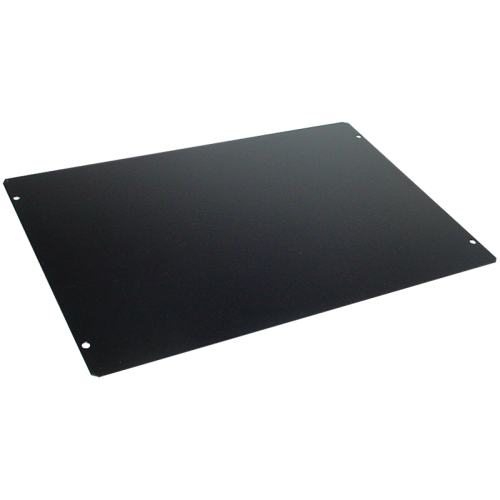 "Cover Plate - Hammond, Steel, 12"" x 8"", Black image 1"