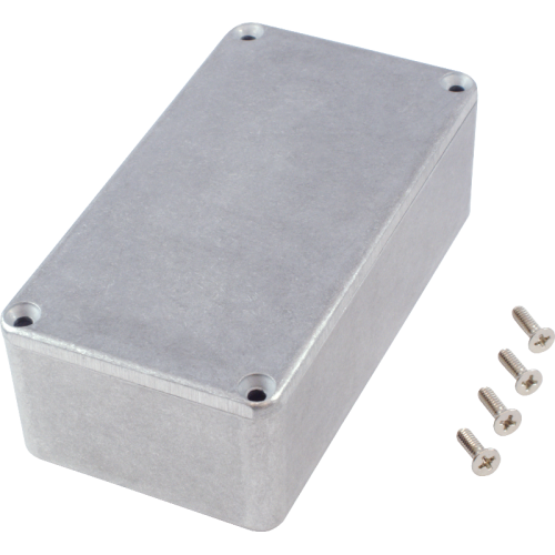 "Chassis Box - Hammond, Unpainted Aluminum, 4.4"" x 2.3"" x 1.5"" image 2"