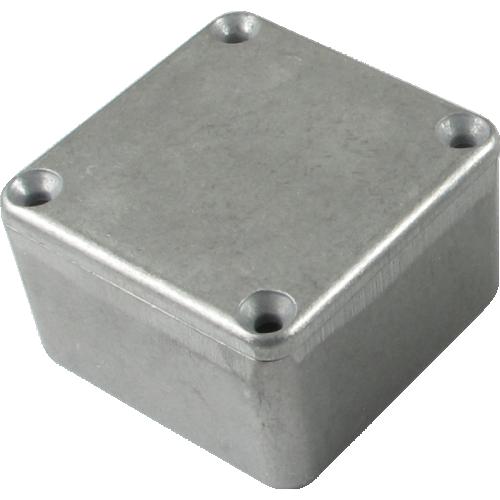 "Chassis Box - Hammond, Unpainted Aluminum, 1.99"" x 1.99"" x 1.06"" image 1"
