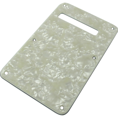 Tremolo spring cover - Fender®, white pearloid image 1
