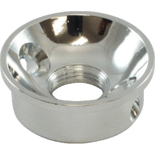 Jack Plate - Electrosocket, for Tele, chrome plated brass image 3