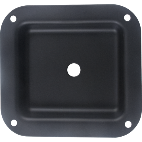 "Jack Plate - 1-Hole, Metal, Black, 4.02"" x 4.40"" image 1"