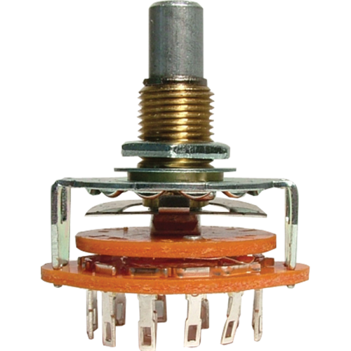 """Switch - Rotary, 1 Pole, 12 Positions, 1/4"""" Shaft image 2"""