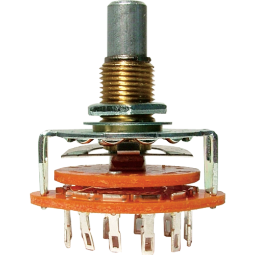 """Switch - Rotary, 2 Poles, 6 Positions, ¼"""" Shaft image 1"""