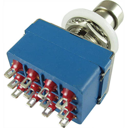 Switch - Footswitch, 4PDT, Blue, 12 Pins image 1
