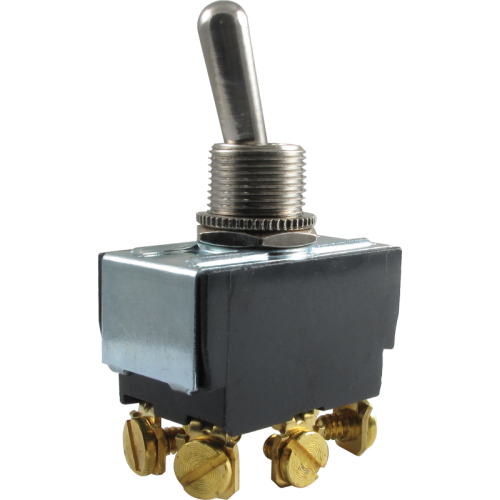 Toggle Switch - Carling, DPDT, 2 Position, On-On, Terminals image 1
