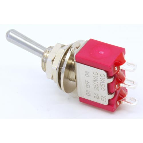 Switch - Carling, Mini Toggle, SPDT, 3 Position, Solder Lug image 4