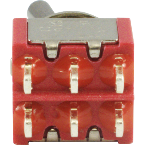 Switch - Carling, Mini Toggle, DPDT, 2 Position, Solder Lugs image 3