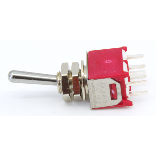 Switch - Carling, Submini Toggle, DPDT, 2 Position, PC Pins image 1
