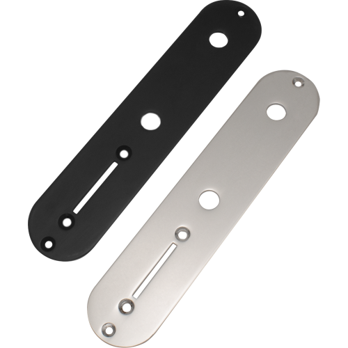 """Control Plate - Telecaster Style, for ⅜"""" Bushing Pots image 1"""