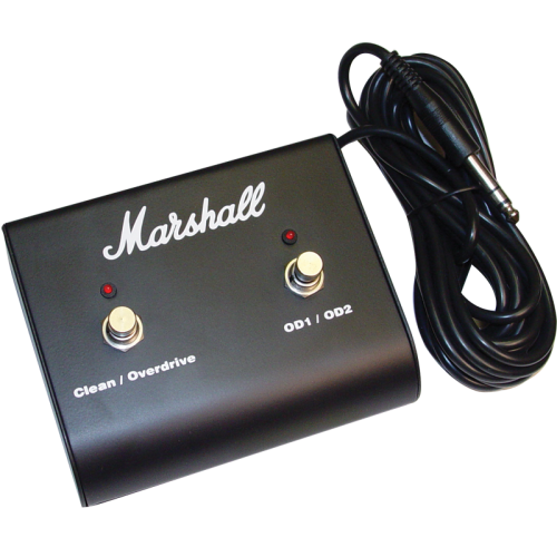Footswitch - Marshall, Two Button with LED (Clean/OD, OD1/OD2) image 1