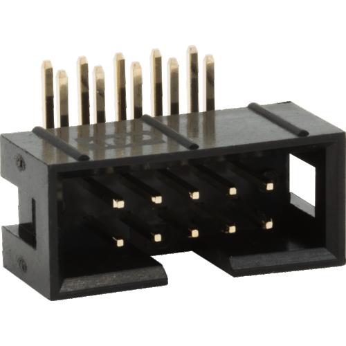 Box Header - Shrouded, 10 Pin, Right Angle image 1