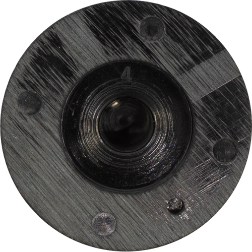 Knob - Black 1-10, Skirted, Set Screw image 2