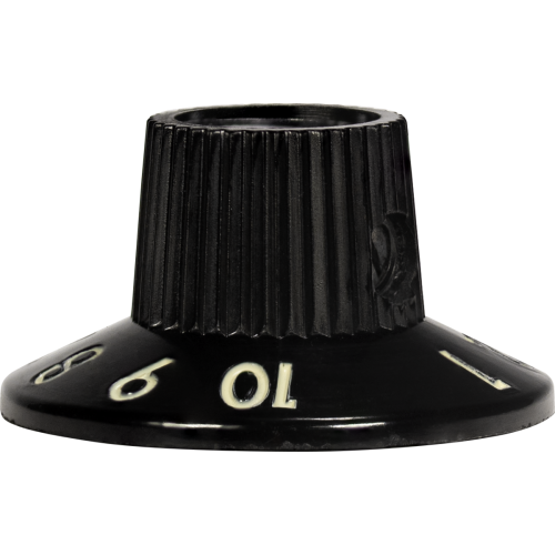 Knob - Witch Hat, Black 1-10, Skirted, Set Screw, Thick Numbers image 3