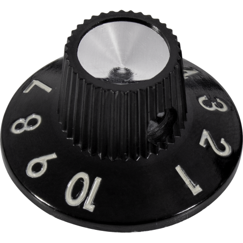 Knob - Black 1-10, Skirted, Set Screw image 1