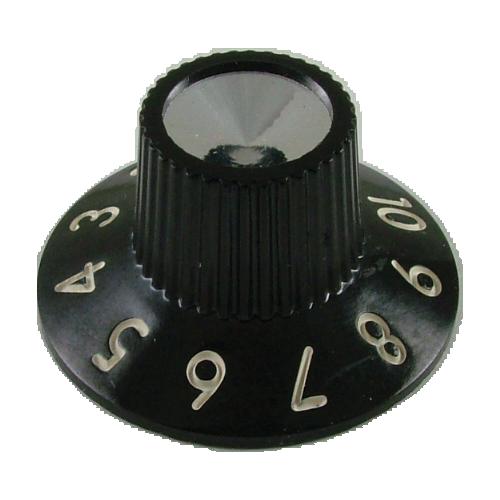 Knob - Fender®, Black Skirted for Blackface Amps, Set Of 6 image 1