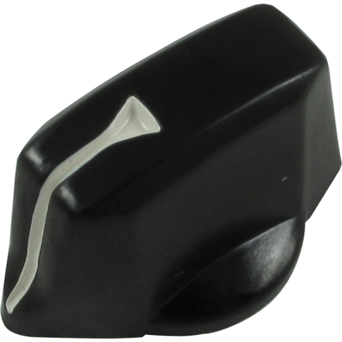 "Knob - Black Control, White ""V"" Line image 1"