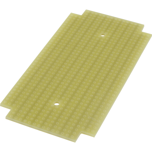 ProtoBoard - Fits 1590B, 1 sided, 2-hole strips image 1