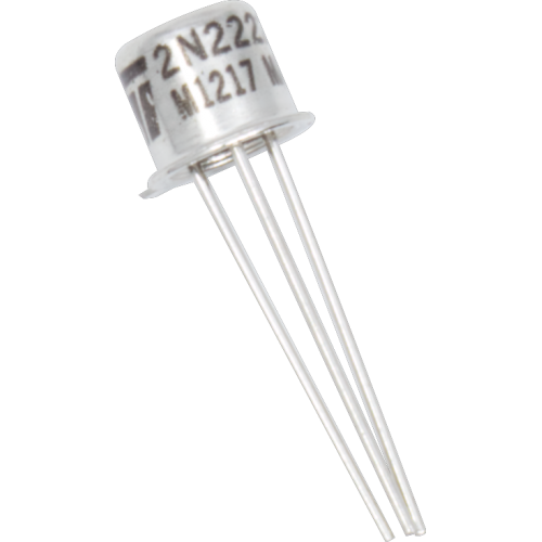 Transistor - 2N2222A, TO-18 case, NPN image 1