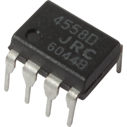 Op-Amp - 4558, Dual high-gain, 8-Pin DIP image 1
