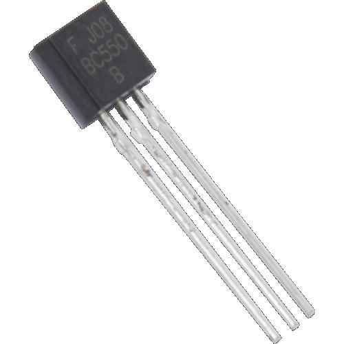 Transistor - BC550 B, TO-92 case, NPN image 1