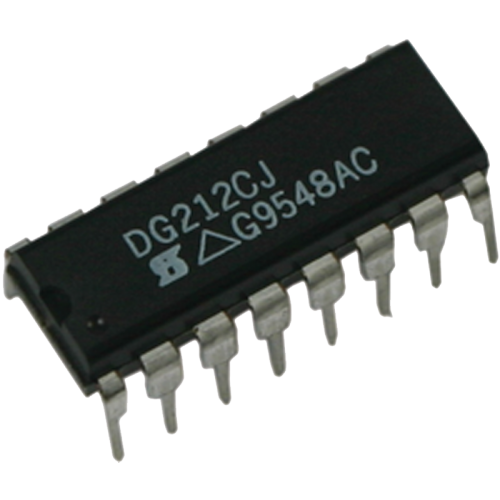 Analog Switch IC - DG212CJ, for Marshall, Quad SPST, 16-Pin DIP image 1
