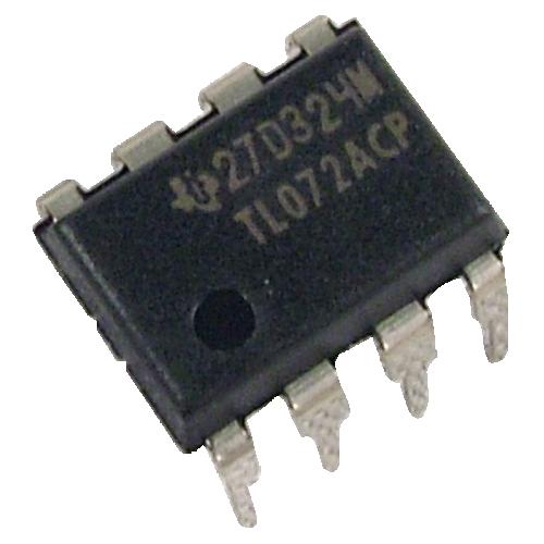 Op-Amp - TL072, Dual, Low-Noise, JFET Input, 8-Pin DIP image 1