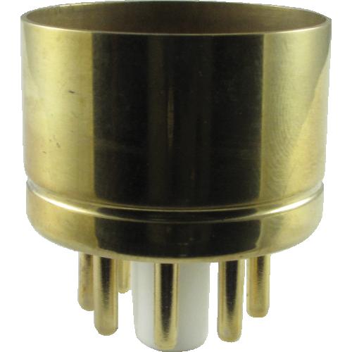 "Tube Base - 8 Pin, Gold Coated Pins, 1.20"" diameter image 1"