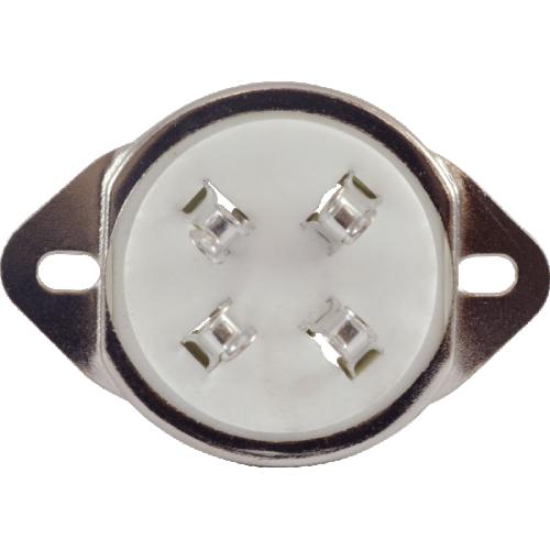 Socket - 4 Pin, Ceramic, Chassis Mount image 3