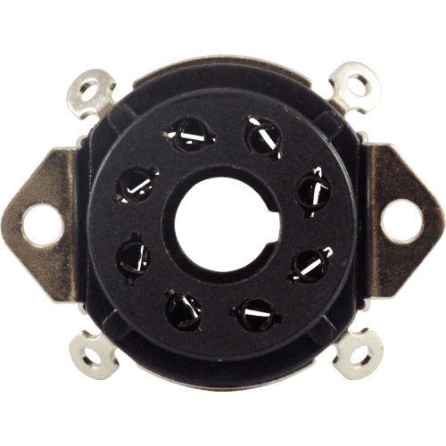 "Socket - 8 Pin, 1"" Chassis Hole, 1-1/4"" Mounting Centers image 2"