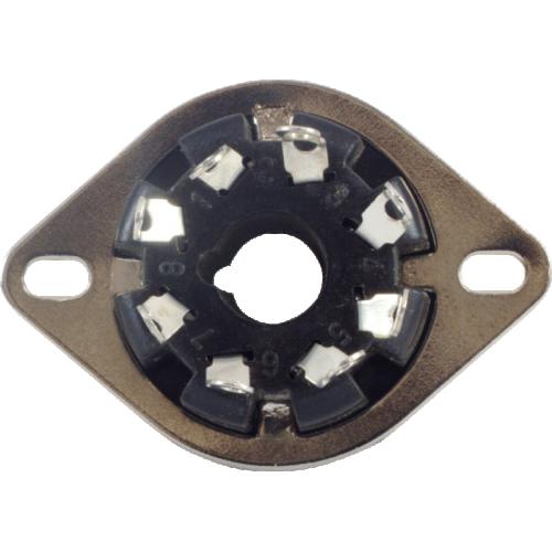 Socket - 8 Pin, Phenolic, MIP, top mount image 3