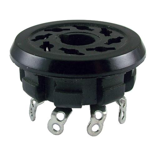 "Socket - 8 Pin, Chassis Hole 1.14"" image 1"