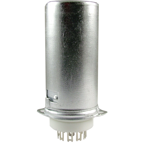 Socket - 9 Pin Miniature, Ceramic Base, Aluminum Shield image 1