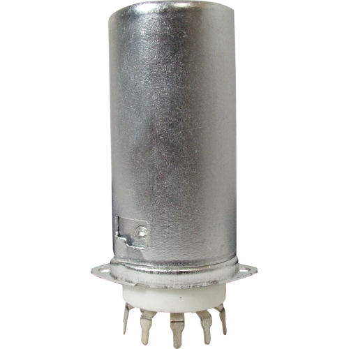Socket - 9 Pin, Ceramic, PC Mount with Aluminum Shield image 1