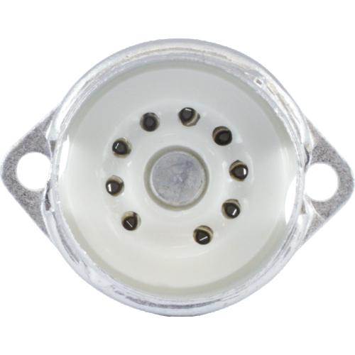 Socket - 9 Pin, Ceramic, PC Mount with Aluminum Shield image 2